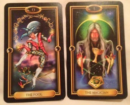 The Fool and Mgician tarot Cards