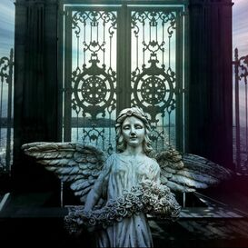 angel infront of gate